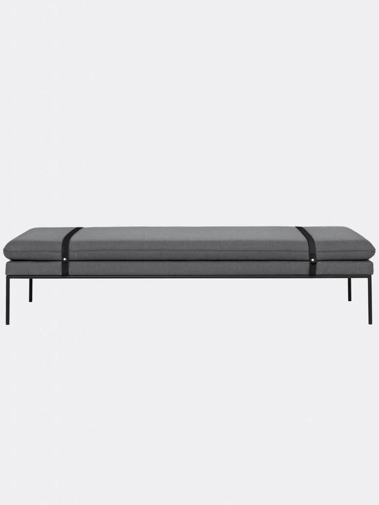 ferm LIVING ferm LIVING Turn Daybed - Fiord - Black Leather Straps