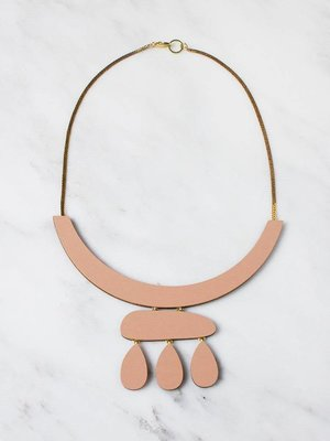 Wolf & Moon Wolf & Moon Cloud Necklace - Blush