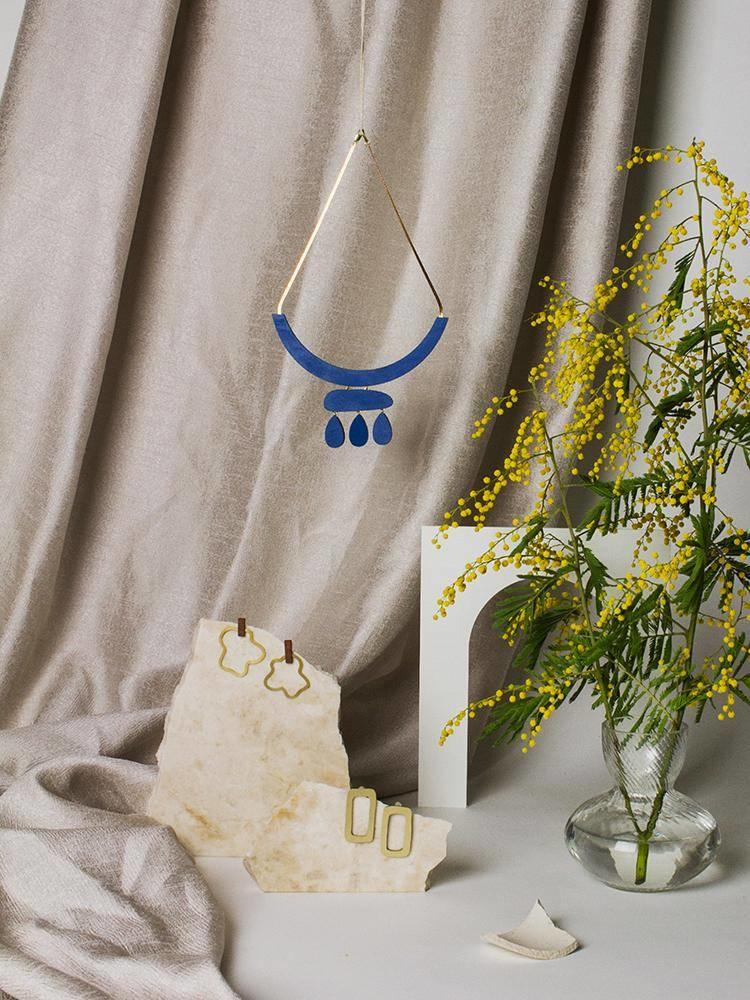 Wolf & Moon Wolf & Moon Cloud Necklace - Cobolt Blue