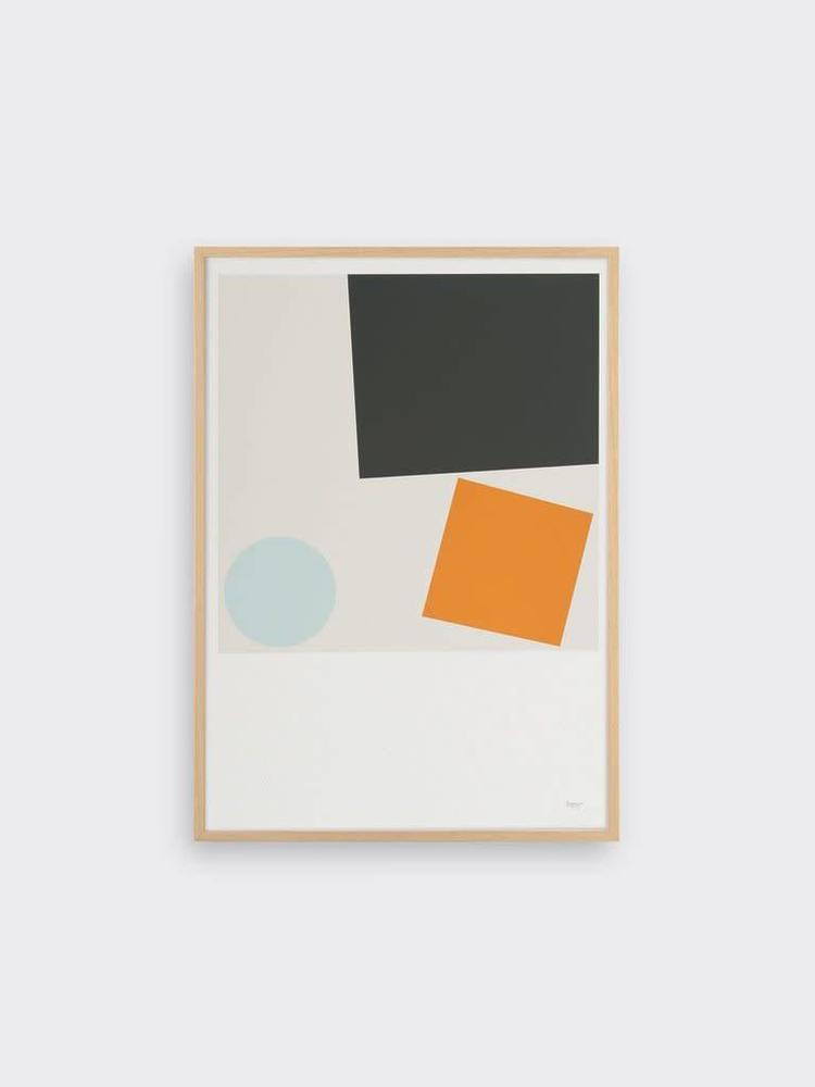 Tom Pigeon Tom Pigeon Block and Ball 3 A3 Print