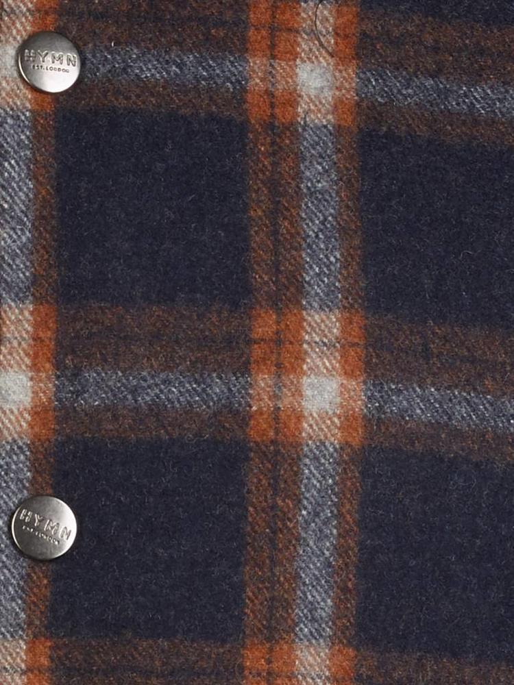 HYMN London Hymn 'HUNT-2' - Navy Check Wool Coach Jacket