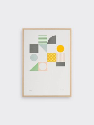 Tom Pigeon Playground 1 Letterpress Print A3
