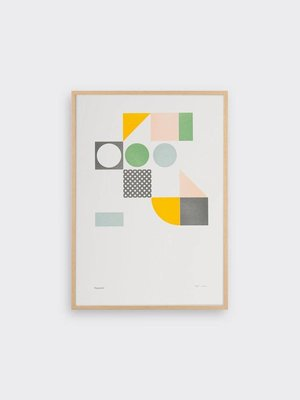 Tom Pigeon Playground 2 Letterpress Print A3