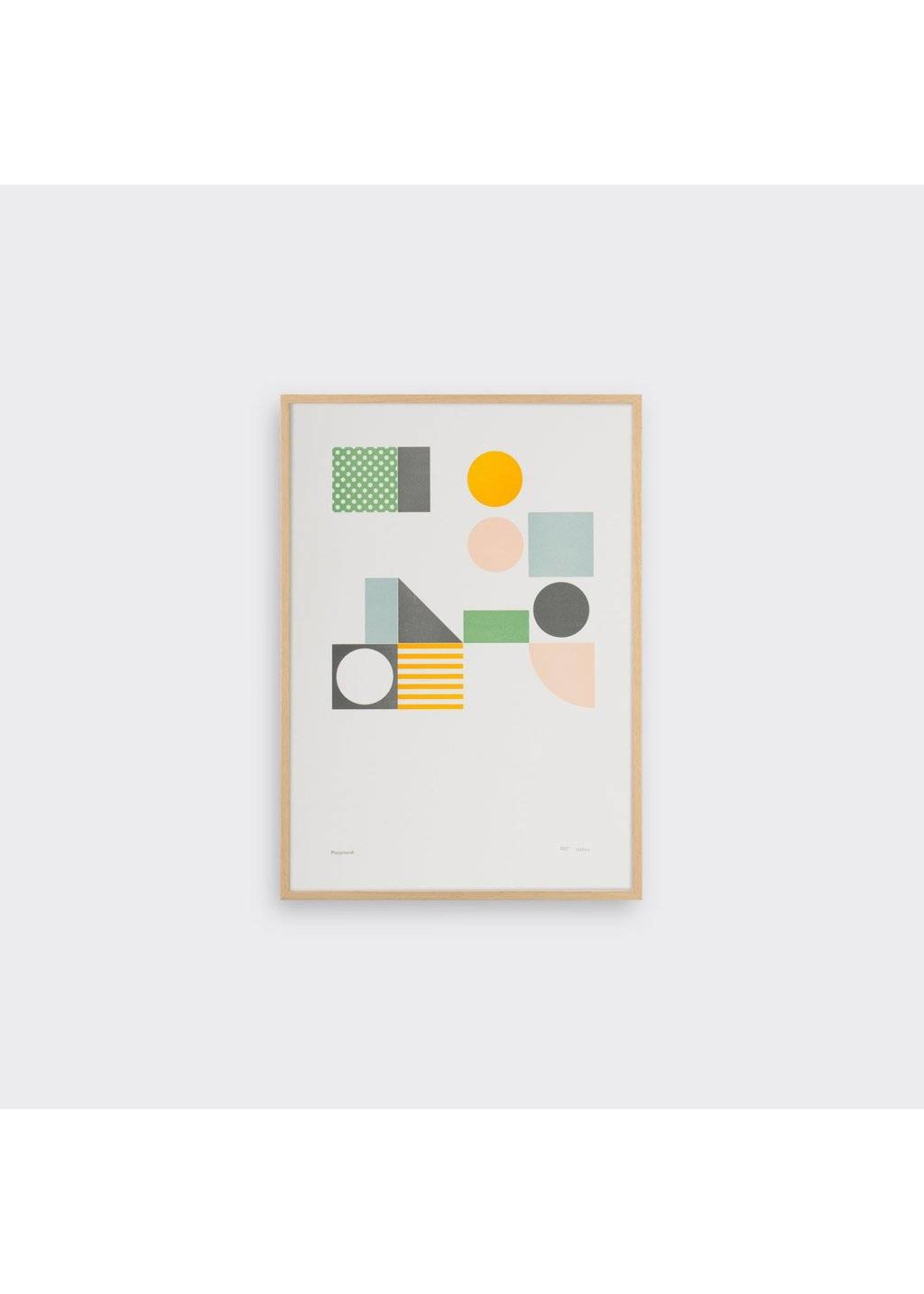 Tom Pigeon Tom Pigeon Playground 3 Letterpress Print A3