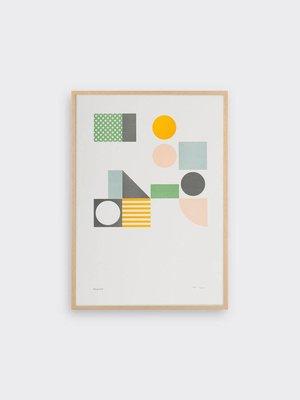 Tom Pigeon Playground 3 Letterpress Print A3