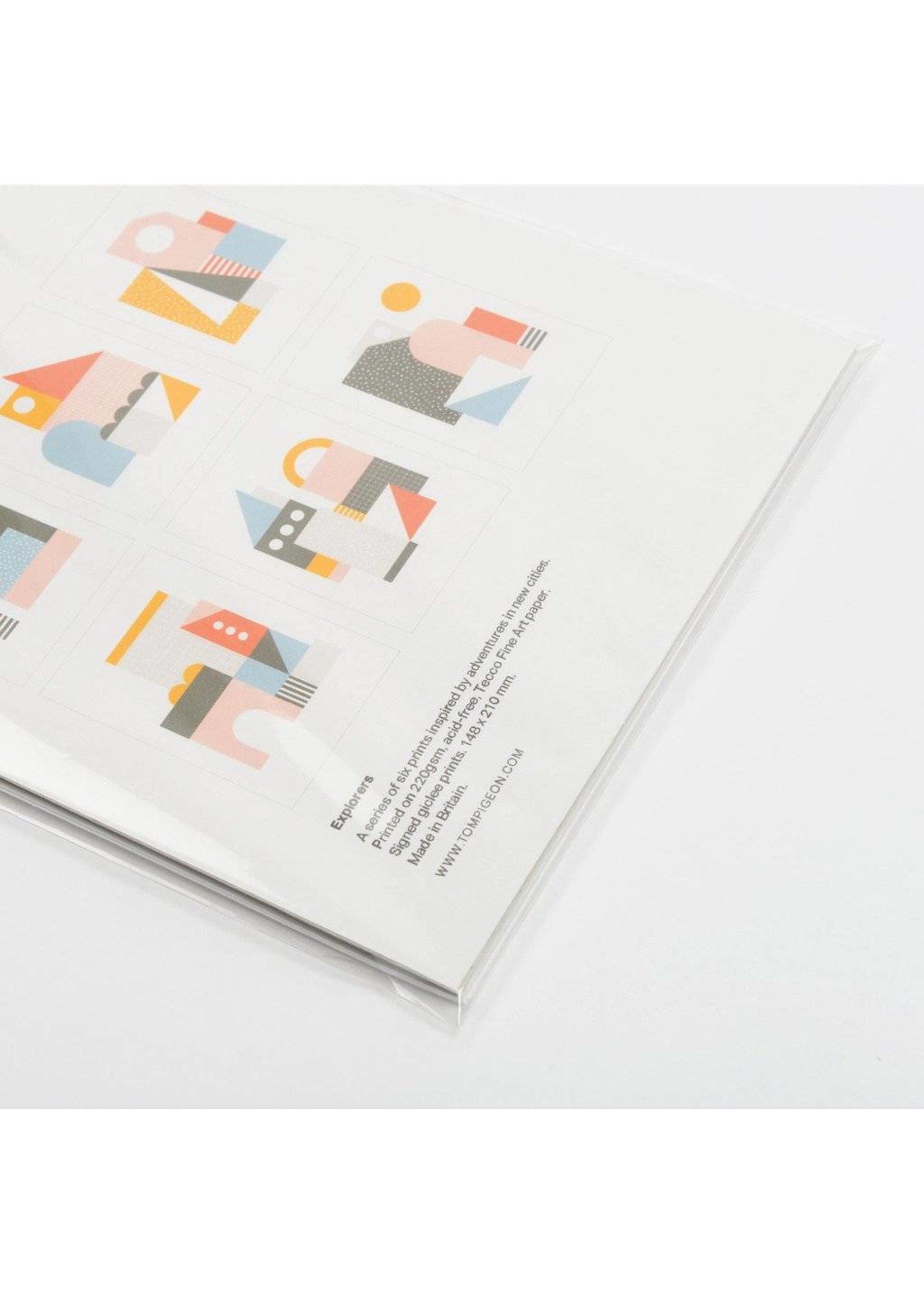 Tom Pigeon Tom Pigeon Explorers Set of Six A5 Prints