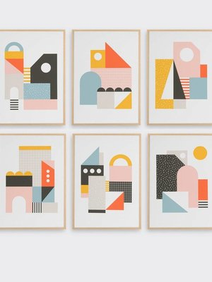 Tom Pigeon Explorers Set of Six A5 Prints