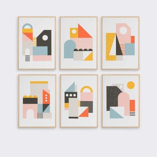 Tom Pigeon Explorers Set of Six A5 Prints