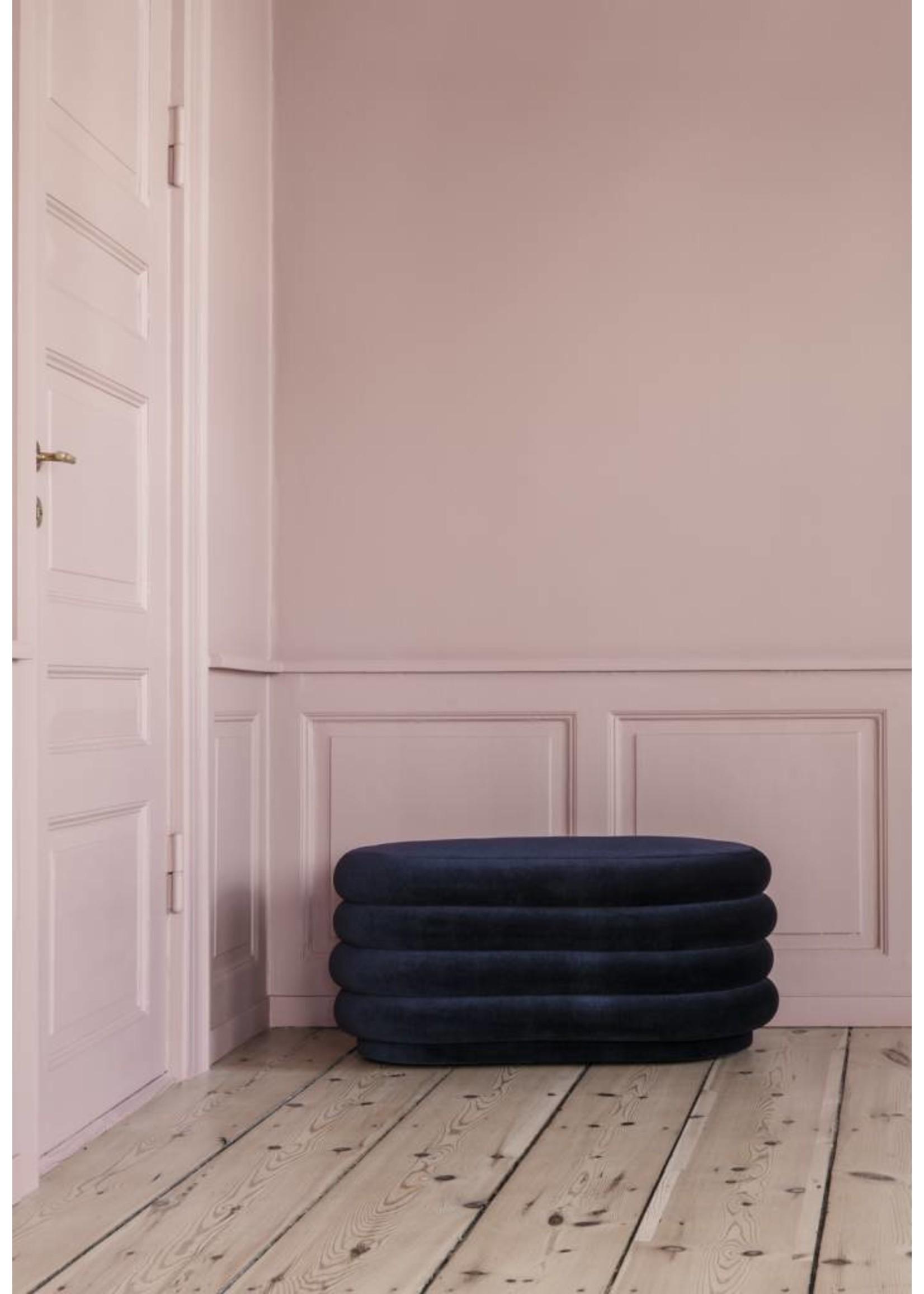ferm LIVING Ferm Living Pouf Oval - High Pile Velvet