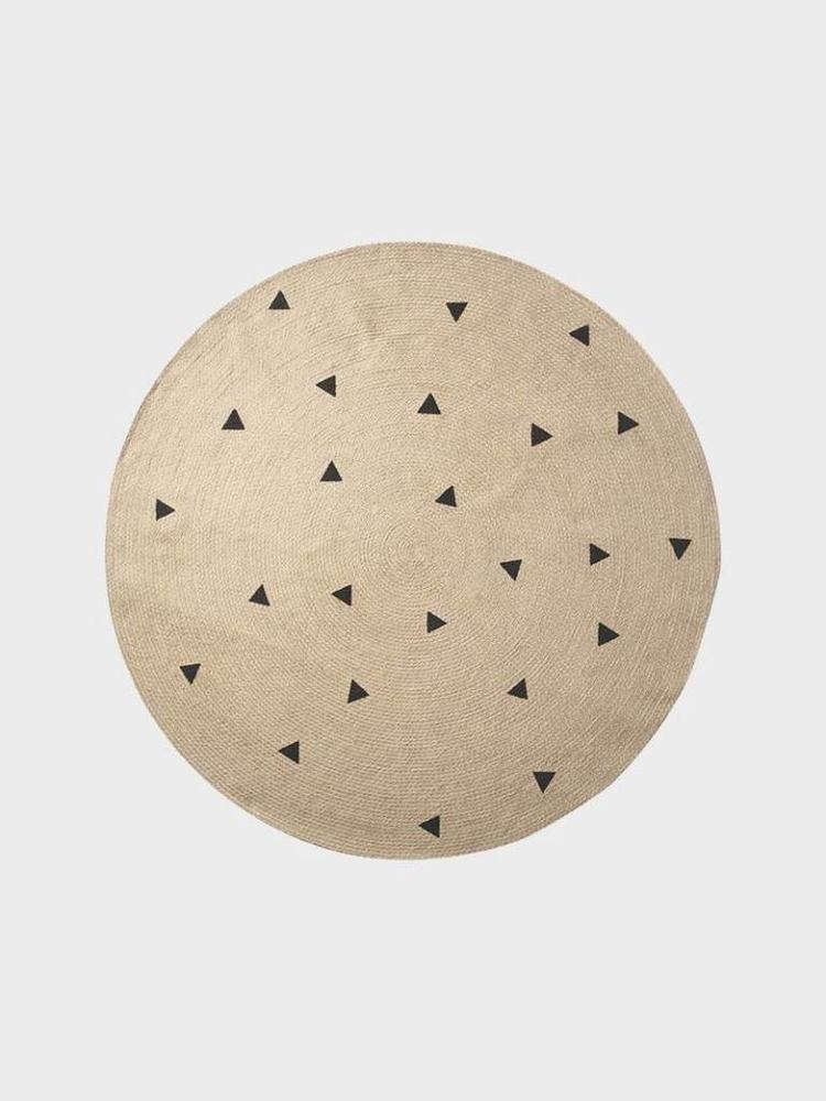 ferm LIVING Ferm Living Large Jute Carpet - Black Triangles