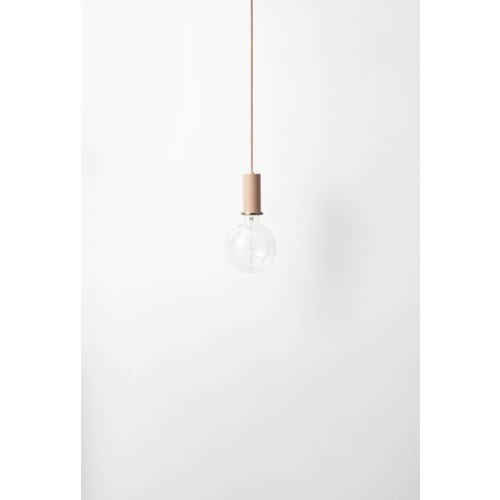 ferm LIVING Lighting - Socket Pendant Low - Rose
