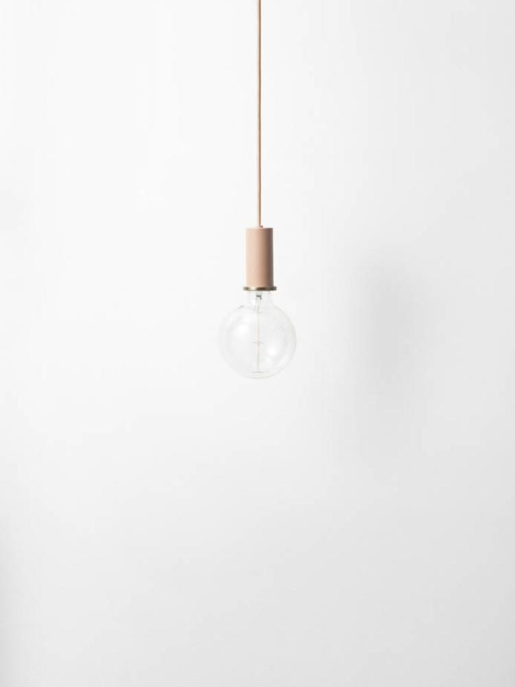 ferm LIVING ferm LIVING Lighting - Socket Pendant Low - Rose