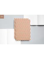 Ola Layflat A5 Notebook, Kaffe Print in Brick Red/Ruled