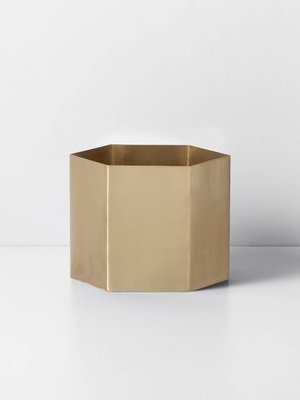 ferm LIVING Ferm Living Hexagon Pot - Brass - Extra Large