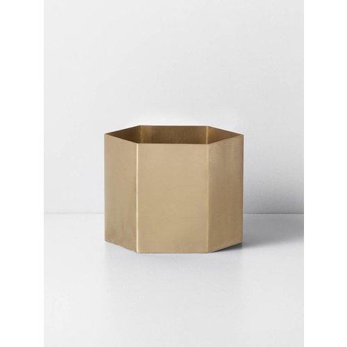ferm LIVING Hexagon Pot - Brass - Extra Large