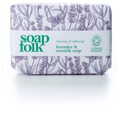 Soap Folk Lavender & Oatmilk Organic Soap