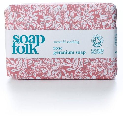 Soap Folk Rose Geranium Organic Soap
