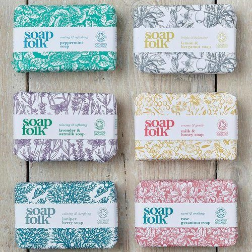 Soap Folk Organic Soap Set of 6 Collection Box