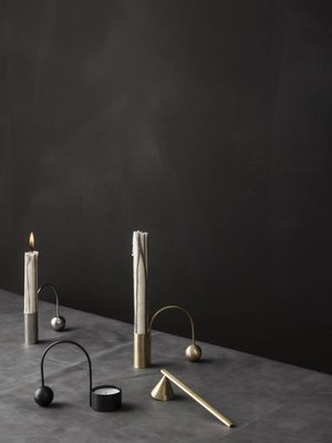 ferm LIVING ferm LIVING Duo Candle - Brown - Set of 2