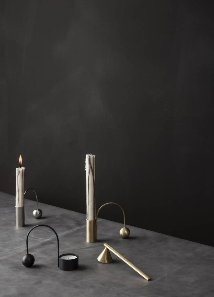 ferm LIVING Ferm Living Balance Tealight Holder - Black Brass