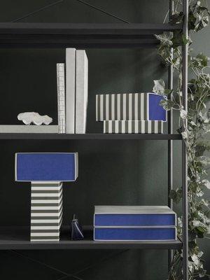 ferm LIVING ferm LIVING Striped Box - Square - Green/Off White