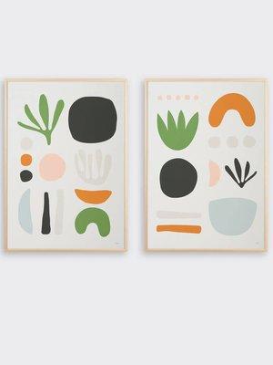 Tom Pigeon Seaweed Pair Prints - A2