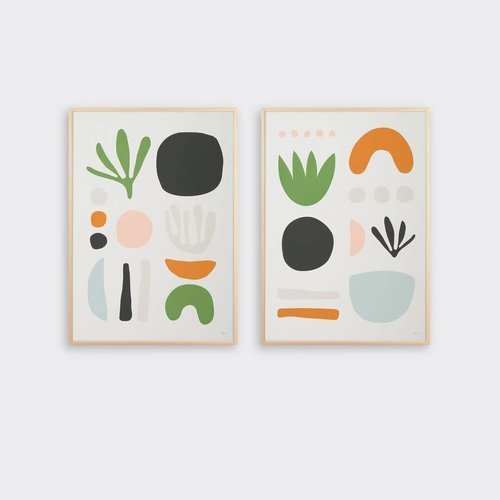 Tom Pigeon Seaweed Pair Prints - A2