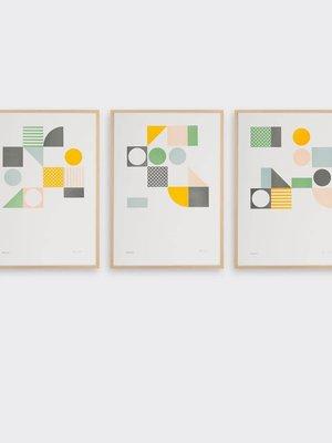 Tom Pigeon Playground Set of 3 A3 Prints