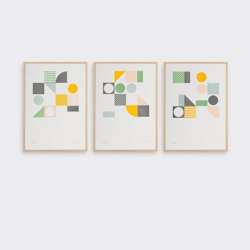 Tom Pigeon Playground Set of 3 A3 Prints