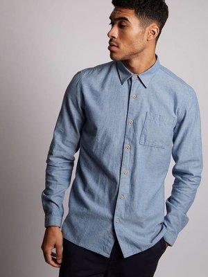 HYMN London 'PIRANHA' Brushed Shirt - Light Blue