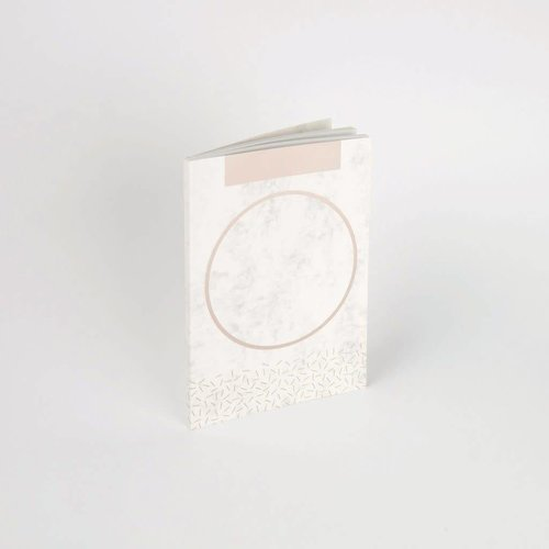Tom Pigeon Totem - Silver Marble Notebook A5
