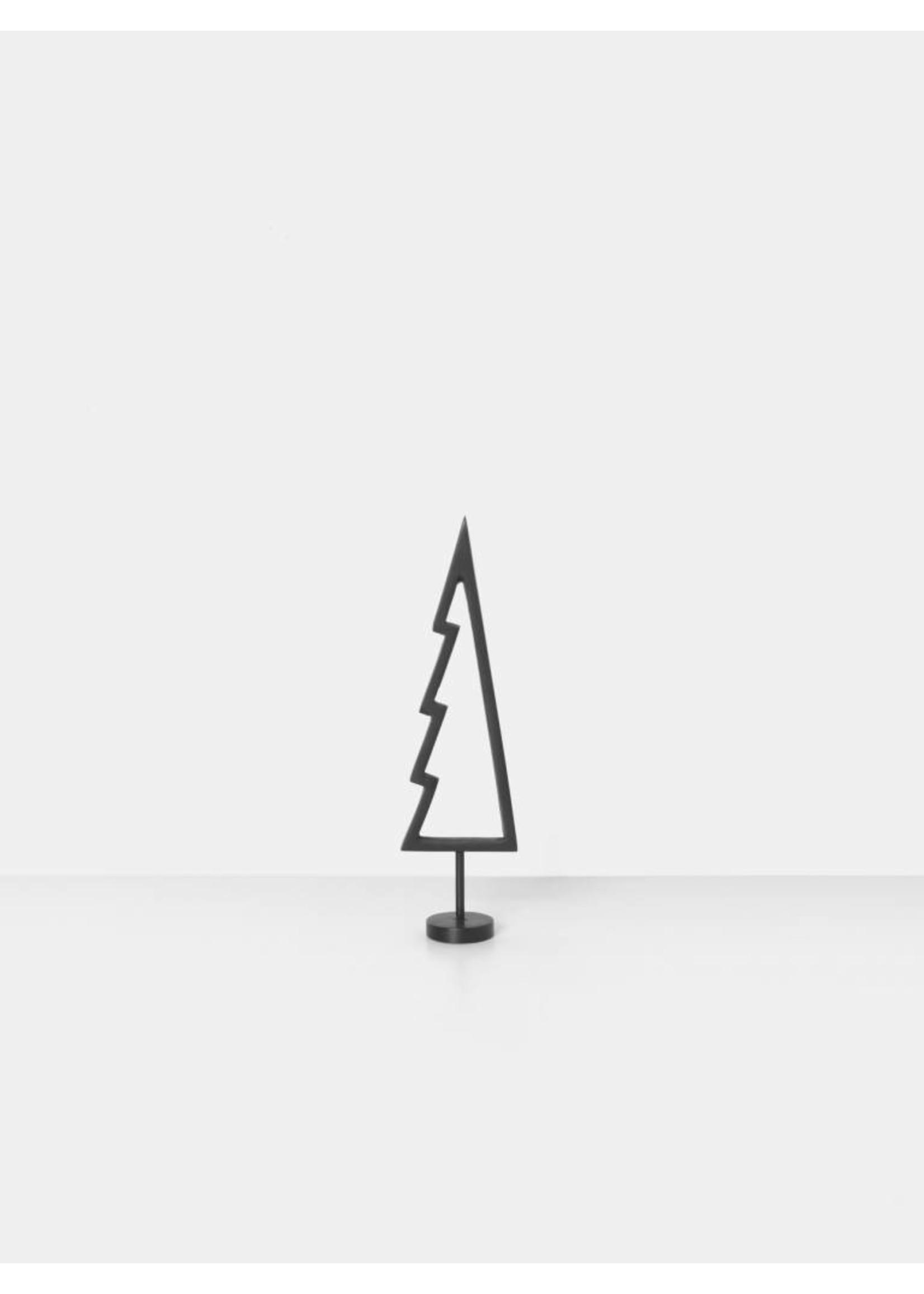 ferm LIVING Ferm Living Winterland Black Brass Tree - Outline