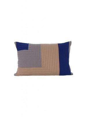 ferm LIVING Ferm Living Angle Knit Cushion - Dusty Rose