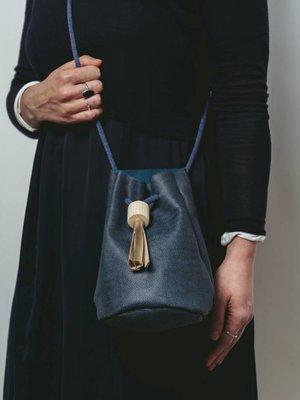 Rosie Drake Knight Bucket Bag - Deep Sea Blue / Gold Tassel