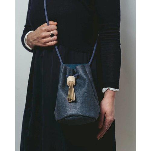 Roake Bucket Bag - Deep Sea Blue / Gold Tassel