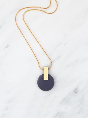 Wolf & Moon Aura Necklace Navy