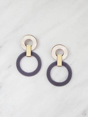 Wolf & Moon Lora Earrings Navy