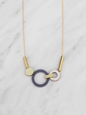 Wolf & Moon Wolf & Moon Lora Necklace Navy