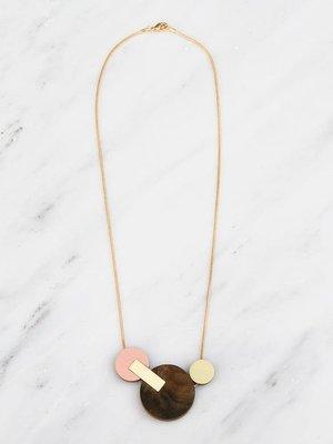 Wolf & Moon Celeste II Necklace Walnut Veneer
