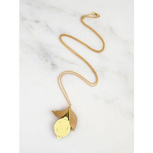 Wolf & Moon Lemon Necklace