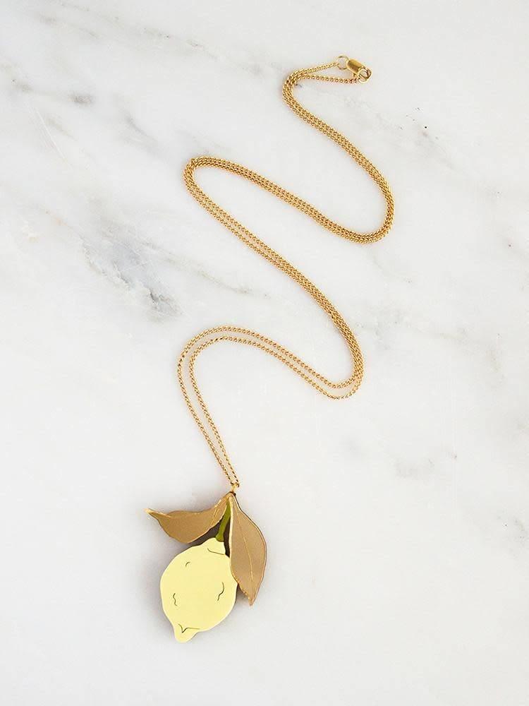 Wolf & Moon Wolf & Moon Lemon Necklace