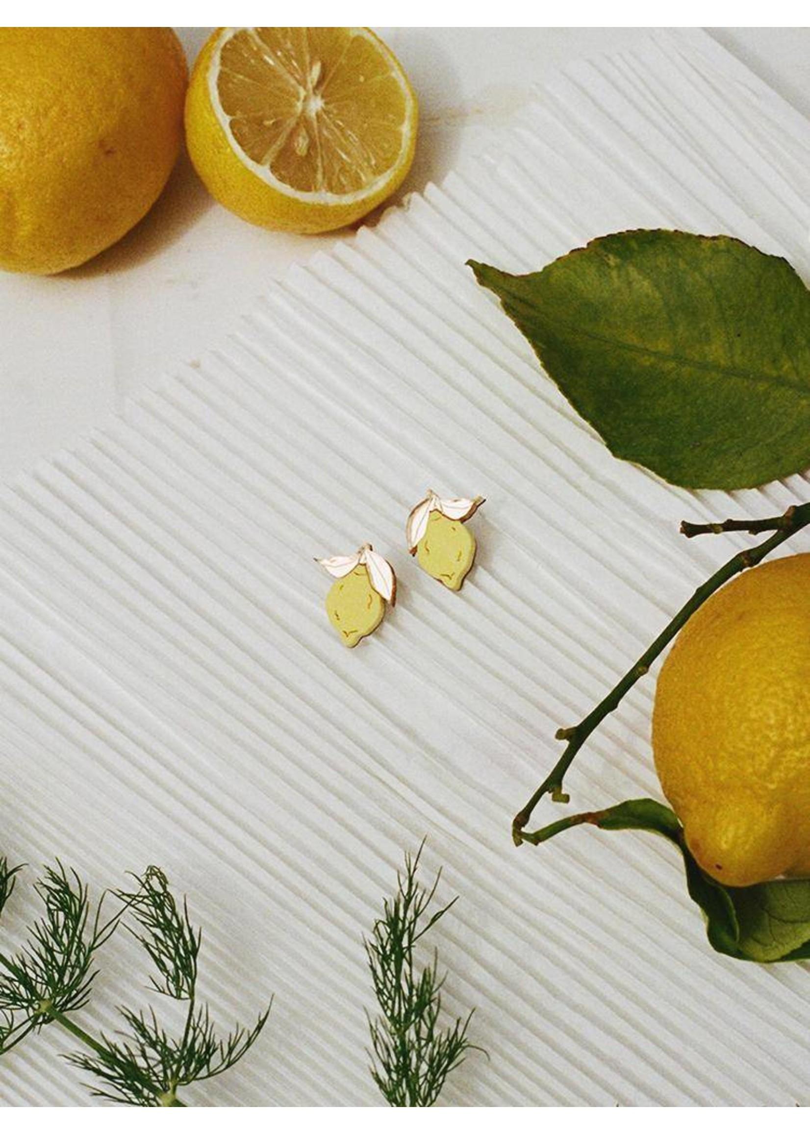 Wolf & Moon Wolf & Moon Mini Lemon Studs