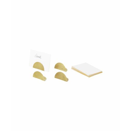 ferm LIVING Card Holders - Set of 4 - Brass