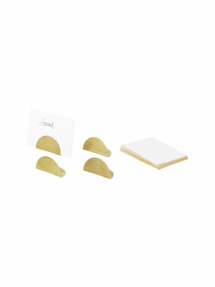 ferm LIVING Ferm Living Card Holders - Set of 4 - Brass