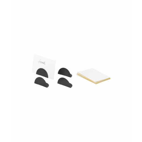 ferm LIVING Card Holders - Set of 4 - Black Brass