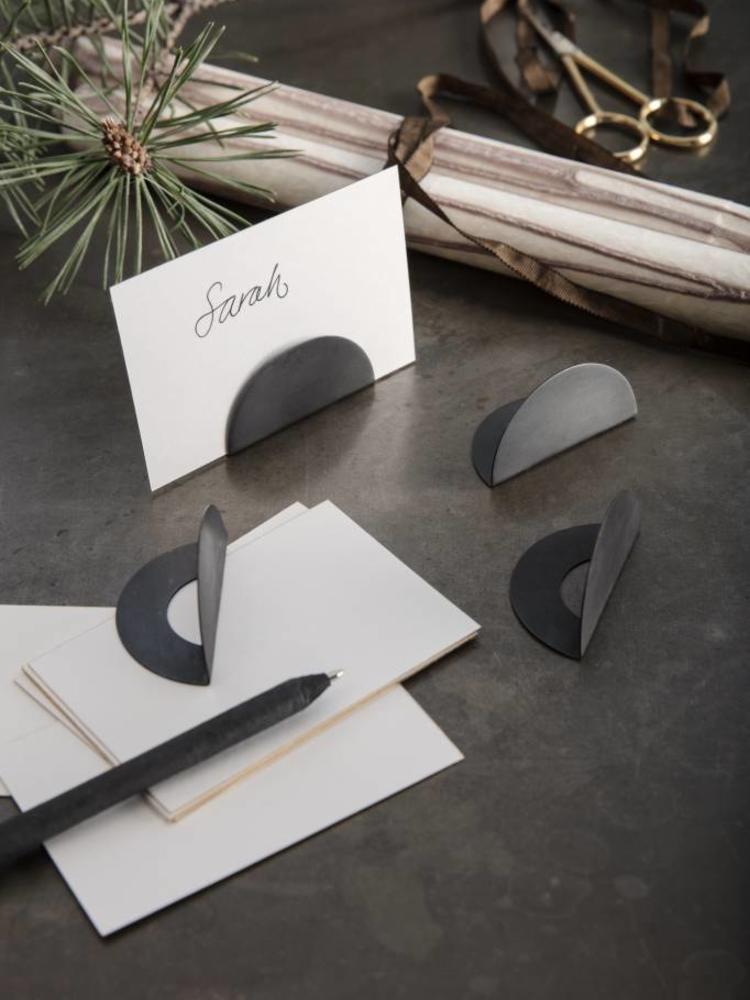 ferm LIVING Ferm Living Card Holders - Set of 4 - Black Brass