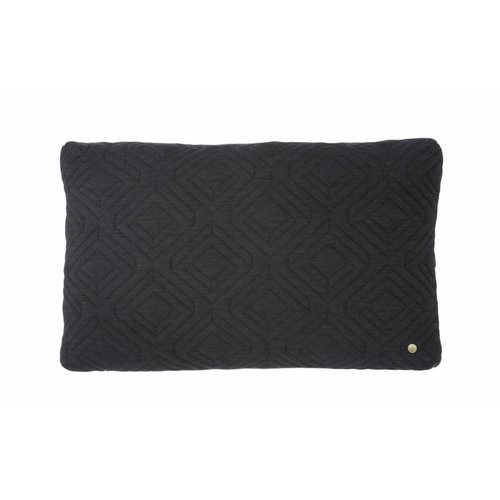 ferm LIVING Quilt Cushion - Dark Grey 60x40