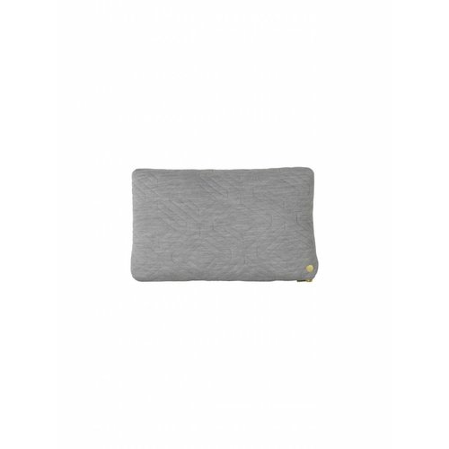 ferm LIVING Quilt Cushion - Light Grey 40x25
