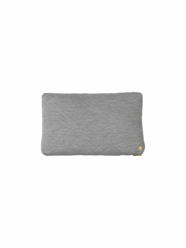 ferm LIVING ferm LIVING Quilt Cushion - Light Grey 40x25