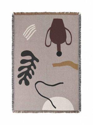 ferm LIVING Mirage Blanket - Grey